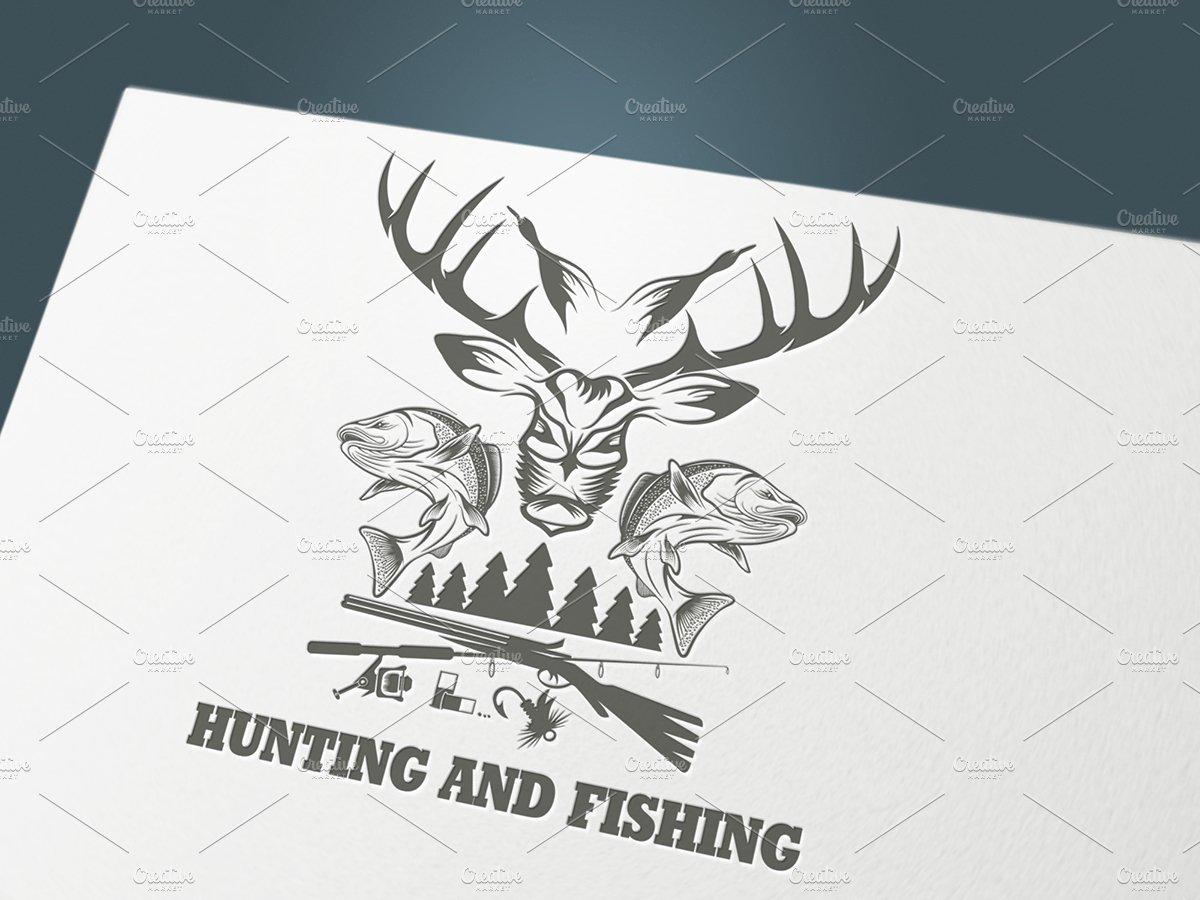 Hunting and fishing illustrations creative market for Hunt fish va