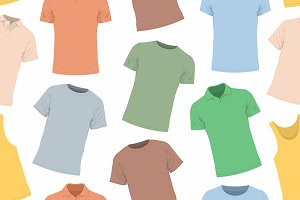 T-shirts seamless pattern