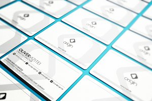 Clean White Business Card