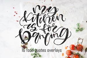 16 FOOD lettering posters!