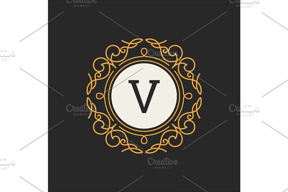 Luxury Logo Vector Template For Restaurant Royalty Boutique Cafe Hotel Heraldic Jewelry Fashion Letter Floral Monogram