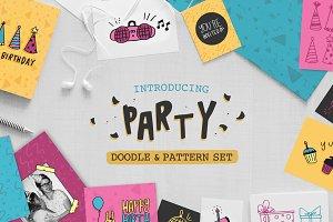 Party Doodle & Pattern Set