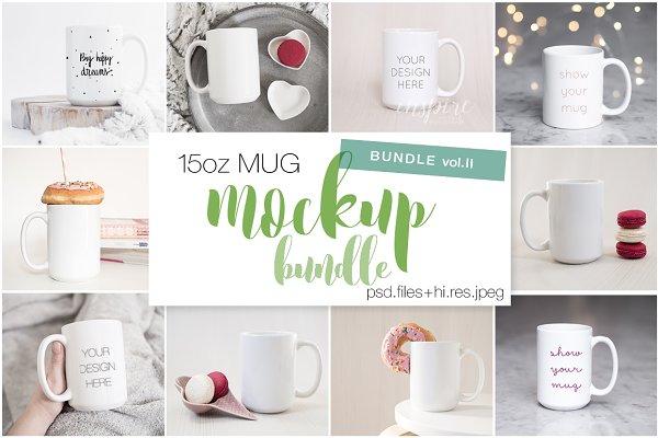 15oz Ceramic Mug Mockups Bundle II