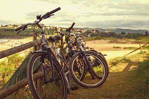 Bicycles at the beach