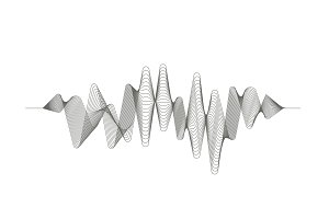Digital sound wave. Audio digital equalizer technology. Musical pulse. Vector music wave.