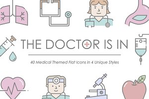 The Doctor Is In - Medical Icon Set