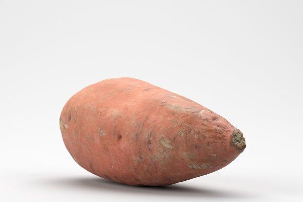 3D Food - Photorealistic Sweet Potato