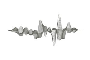 Vector music sound wave