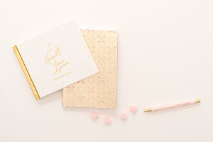Pink/Gold Styled Desktop Flat Lay 5