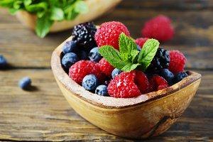 Mix of summer berries