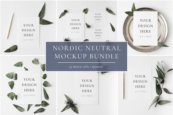 Nordic Neutral Mockup Bundle