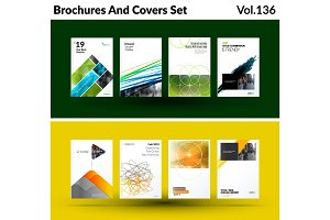 Mega set of abstract templates for business, trendy colourful triangles