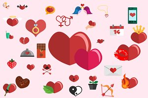 31 Love valentine heart icons