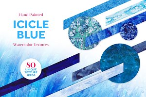 ICICLE BLUE Watercolor Texture Set
