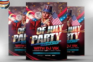 July 4th Flyer Template