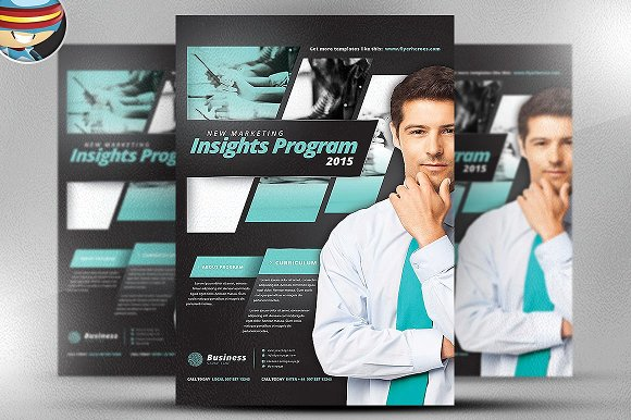 Insight Marketing Poster Template
