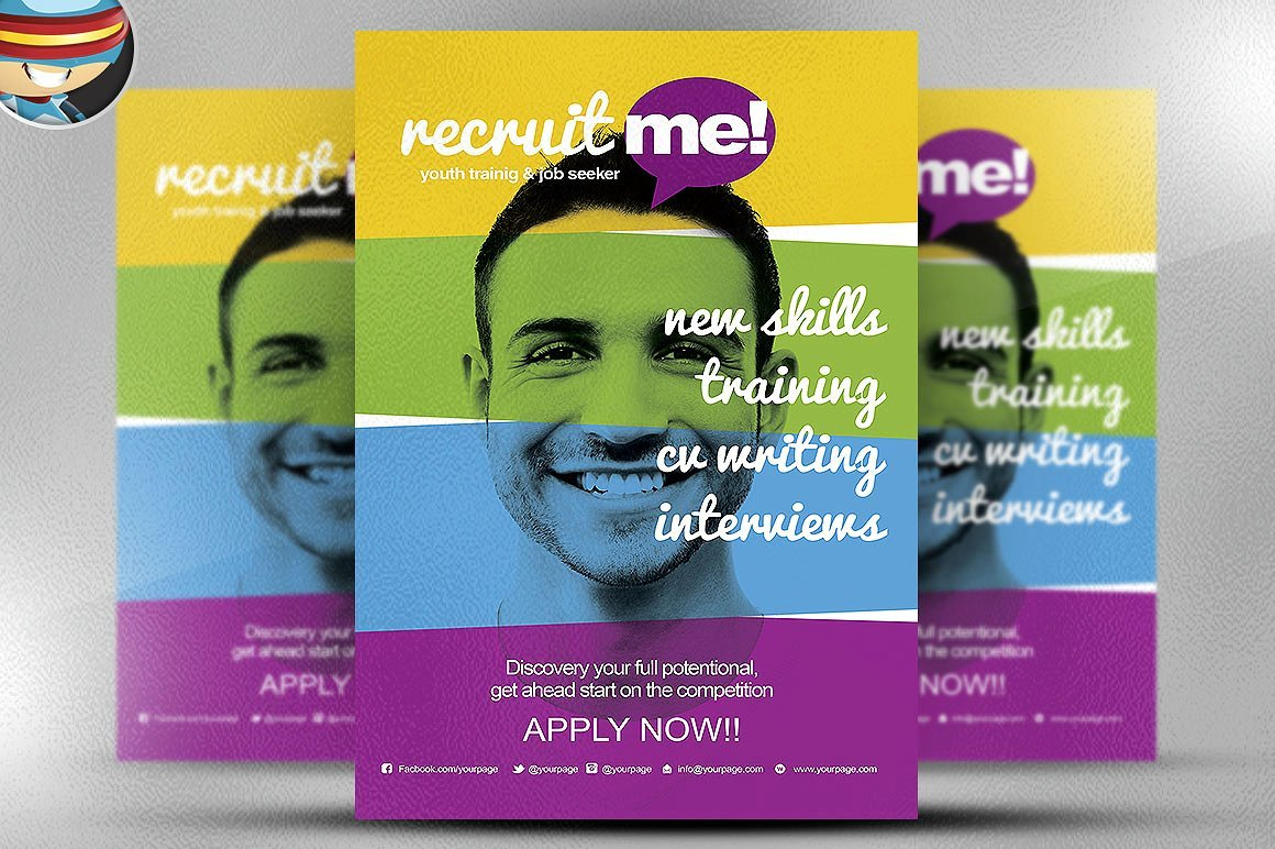 Creative recruitment flyer template flyer templates for Recruiting brochure template