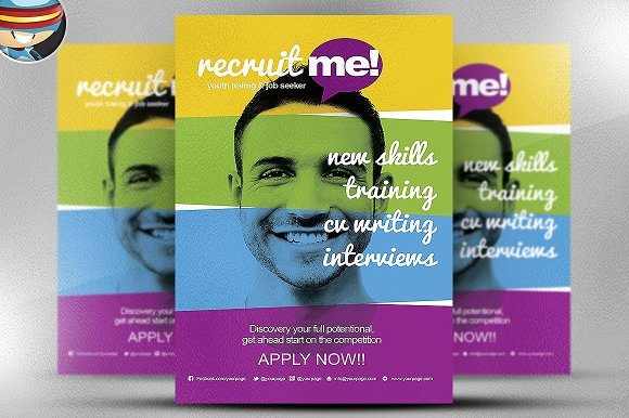 Creative Recruitment Flyer Template Flyer Templates Creative Market
