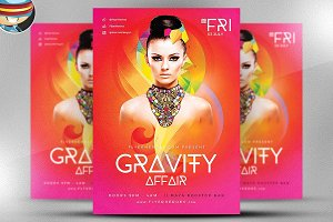 Gravity Affair Flyer Template