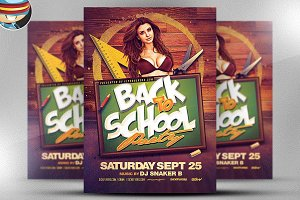 Back To School Flyer Template 3