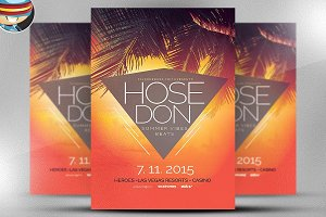 Summer House Flyer Template 3