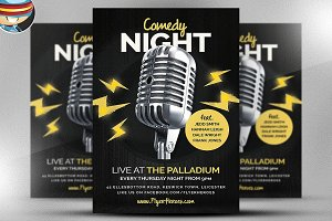 Open Mic / Comedy Night Flyer