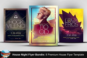 House Night Flyer Templates Bundle
