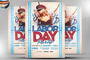 Labor Day Party Flyer Template 3