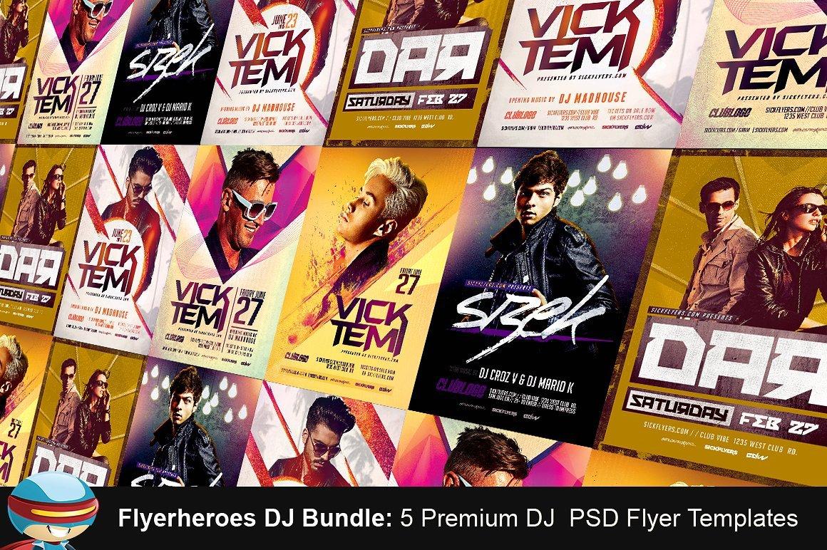 Premium DJ Flyer Templates Bundle ~ Flyer Templates ~ Creative Market