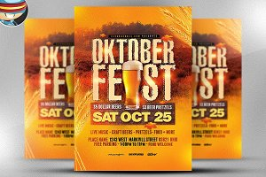 Rustic Oktoberfest Flyer Template