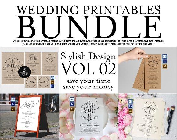 Wedding Printables Bundle Style 2