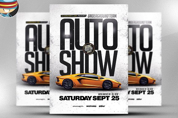 Auto Show Flyer Template Flyer Templates Creative Market - Car show flyer template
