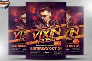 Vixin Halloween Club Flyer Template