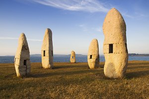 Celtic monuments in A Coruna,
