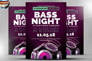 Bass Night Flyer Template 2