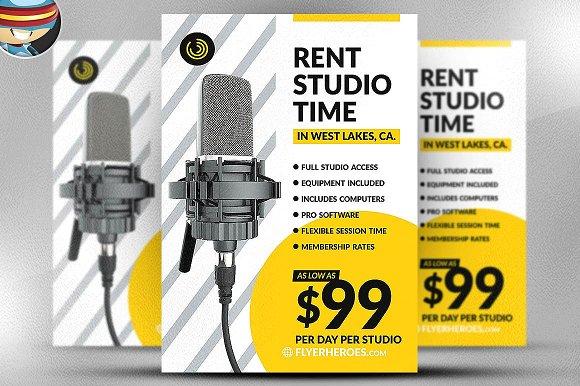 Studio Time Flyer Template
