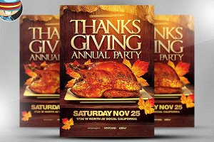 Thanksgiving Annual Party Template