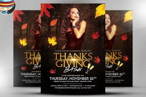 Thanksgiving Club Flyer Template