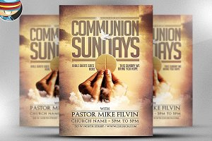 Communion Sundays Flyer Template