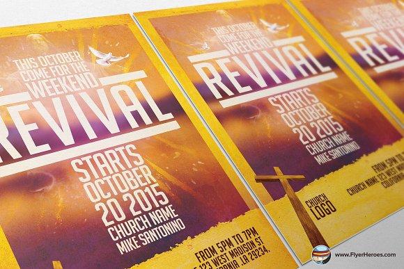 Church revival flyer template flyer templates creative market saigontimesfo