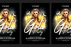 Dj Gold Party Flyer