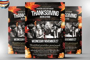 Fall / Thanksgiving Flyer Template