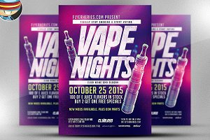 Vape Nights Flyer Template