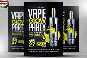 Vape Glow Flyer Template