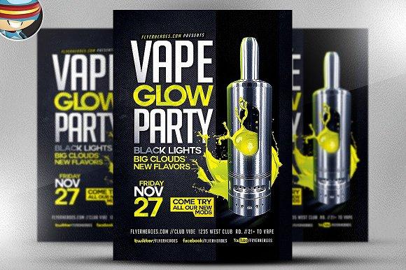 Vape Glow Flyer Template