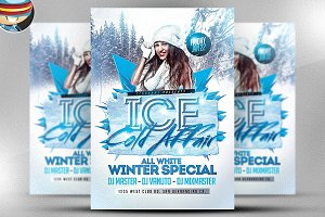 Ice Cold Affair Flyer Template