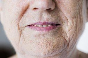 Portrait of white elderly woman
