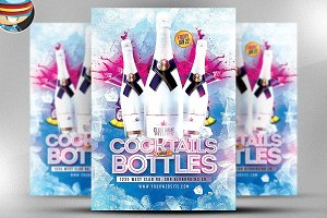 Cocktails and Bottles Flyer Template