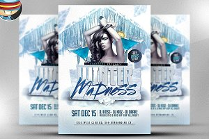 Winter Madness Flyer Template