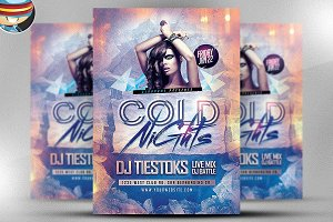Cold Nights Winter Party Flyer